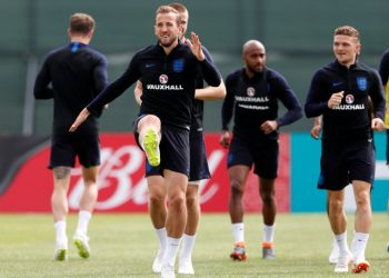 England players during their training session in Nizhny Novgorod, Thursday