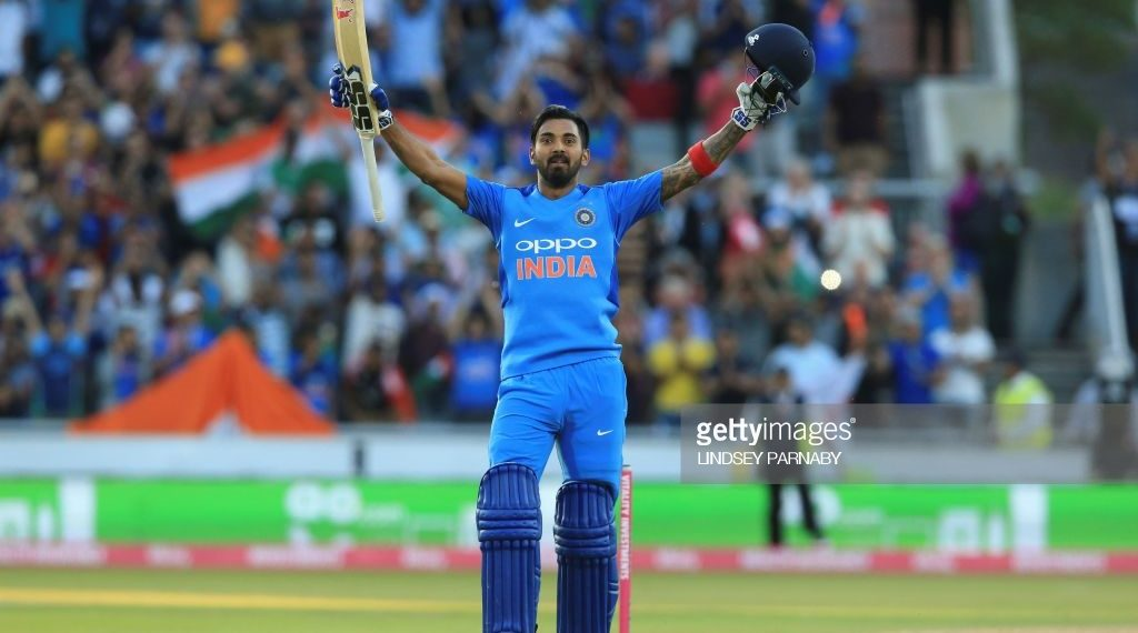 KL Rahul celebrates his century against England, Tuesday