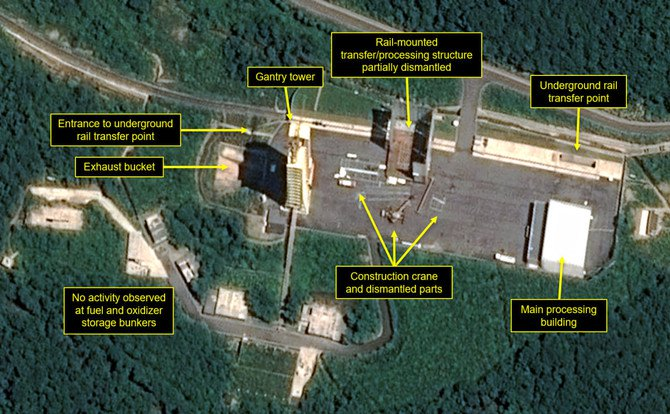 U.S. group: North Korea dismantling key launch site facilities