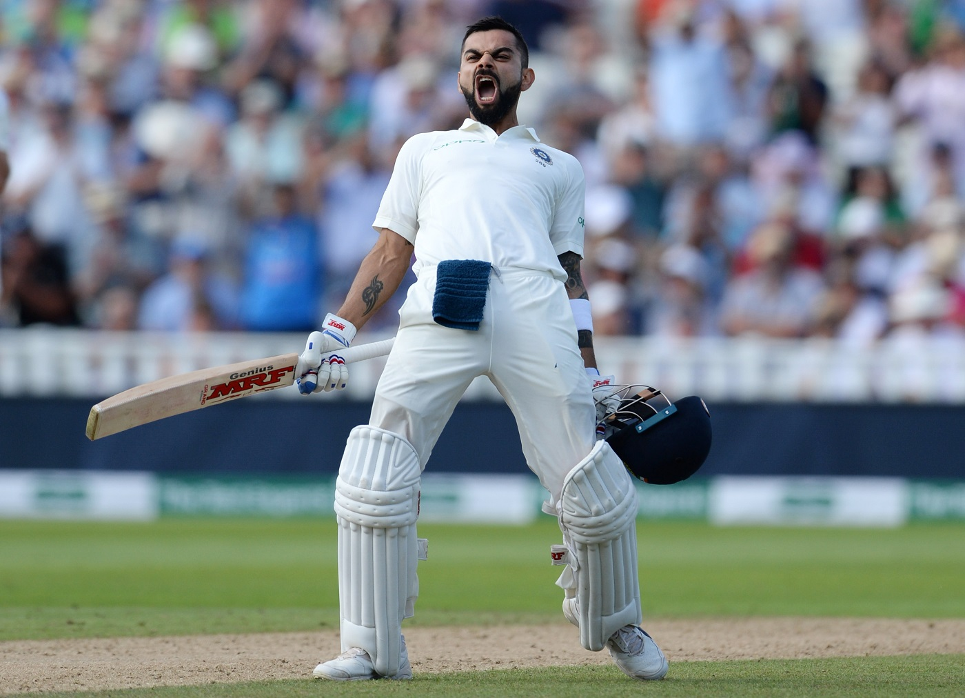 Virat Kohlis maiden Test ton in England keeps things even