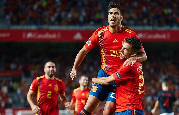 Marco Asensio is over the moon after scoring against Croatia, Tuesday