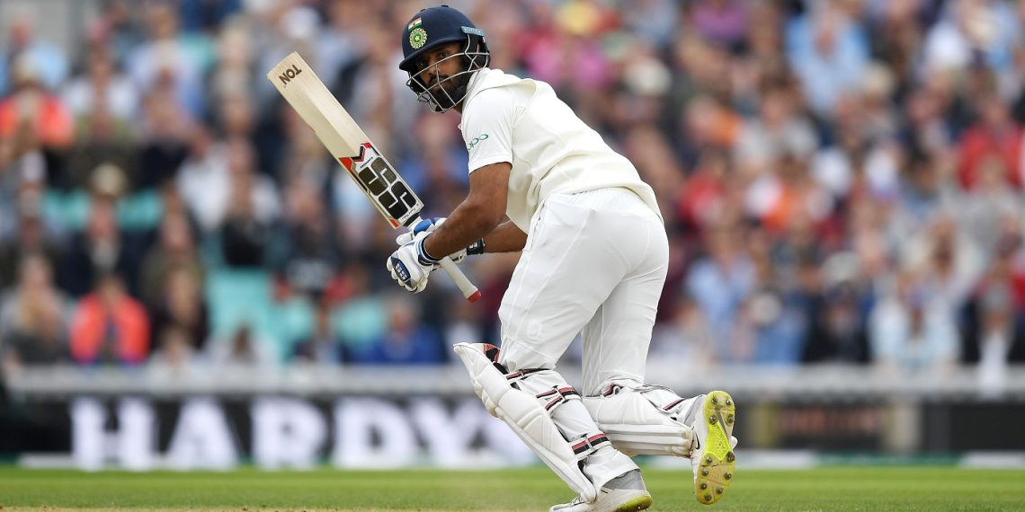 Hanuma Vihari during his innings at the Oval, Sunday
