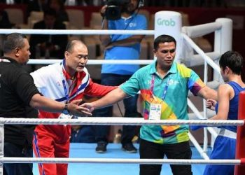 The Asian Games saw North Korean coaches entering the ring to protest against the judges' decision