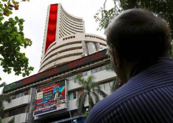 Sensex down 300 points over weak macro, negative global cues.
