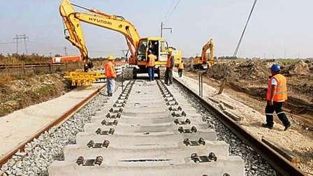 On going construction of the freight corridor.