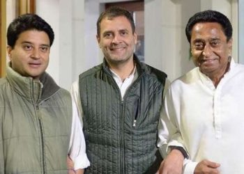 A photo tweeted by Rahul Gandhi said everything after his meeting with Madhya Pradesh Congress chief Kamal Nath and Jyotiraditya Scindia Thursday evening, in the middle of a tense race for the chief minister's post.