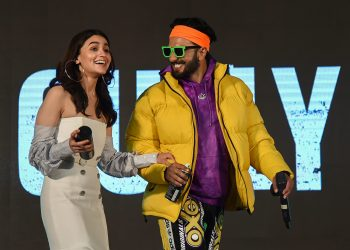 Mumbai: Bollywood actors Ranveer Singh and Alia Bhatt during the trailer launch of their upcoming Hindi film 'Gully Boy', directed by Zoya Akhtar, in Mumbai, Wednesday, Jan 9, 2019. (PTI)