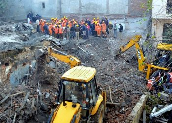 """Six bodies have been retrieved from the accident site so far. The rescue teams are still on job."" (PTI)"