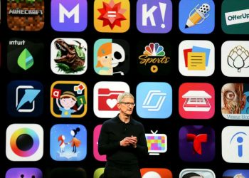 Apple Chief Executive Officer Tim Cook speaks at the Apple Worldwide Developer conference in San Jose, California, US, June 4, 2018. (REUTERS)