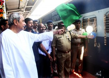 CM flagged of the train