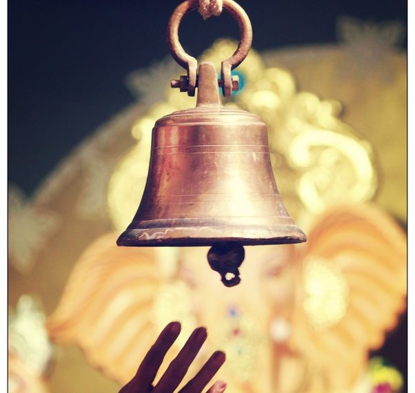 , Why do people ring bells before entering a mandir?