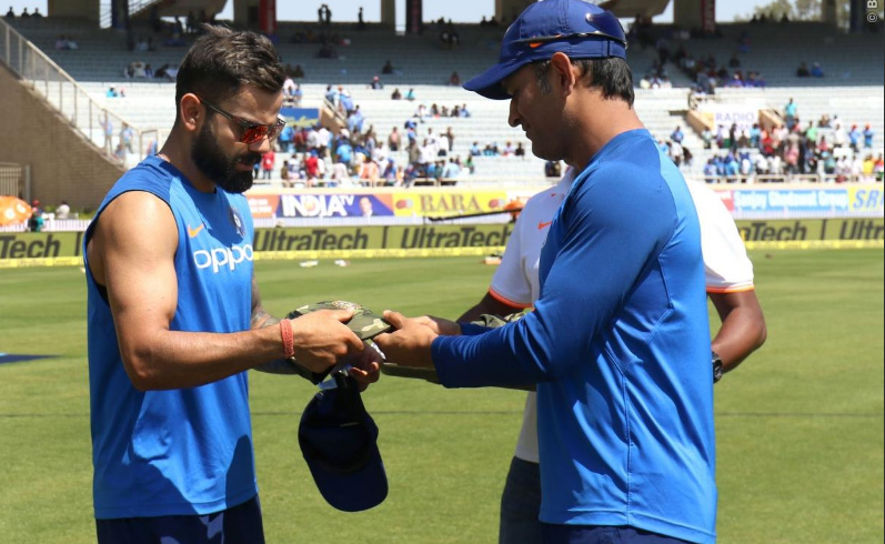 Indian cricket team wears 'special' cap to honour Pulwama martyrs