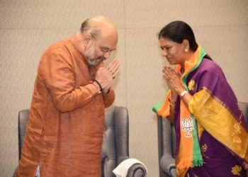 She joined the BJP in the presence of party national president Amit Shah in Delhi Tuesday.