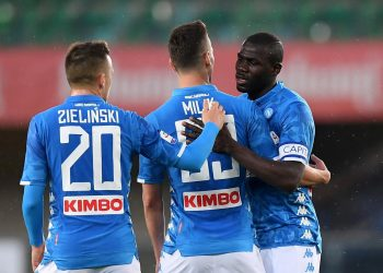 Koulibaly scored either side of Arkadiusz Milik's strike for his first league goals this season to put Napoli 17 points behind Juventus. (Image: Reuters)
