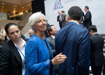 IMF Managing Director Christine Lagarde said ministers gathered in Washington stressed the benefits of trade for economic growth (AFP)
