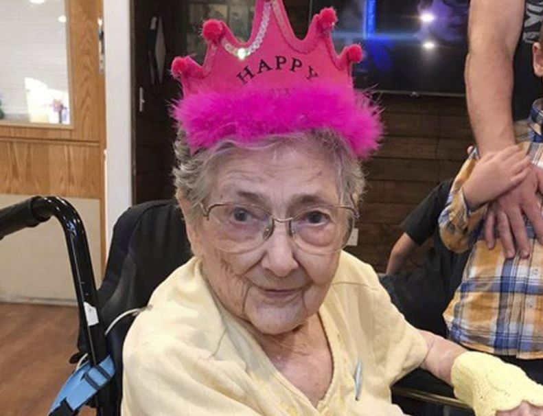 Woman lives to 99 despite her organs being in wrong places