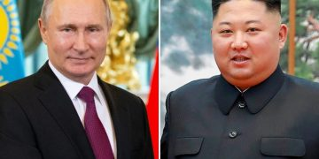 Putin, who has long expressed his readiness to meet with Kim, is gearing up to play a bigger role in nuclear negotiations with Moscow's Cold War-era ally, with which it shares a short border (POOL/AFP/File / Alexander Zemlianichenko, Handout)