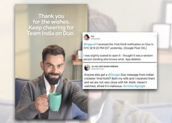 Google apologies for sending Kohli's message to users